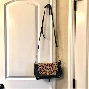 Sole Society Bags - NWOT Leopard and Black Vegan Leather Purse